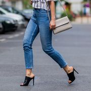 Clothing, Footwear, Blue, Denim, Trousers, Jeans, Textile, Shoe, Outerwear, Human leg,