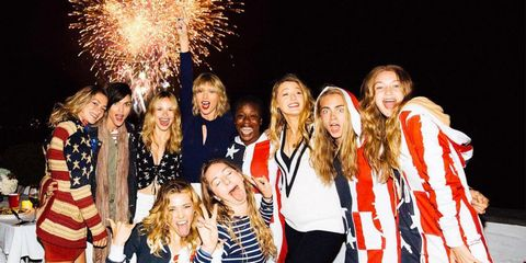 taylor swift at the last taymerica party