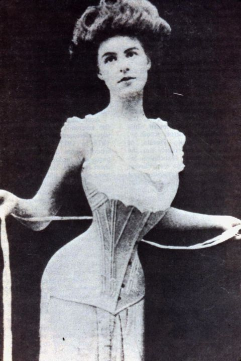 2e0a7b78b77  p The S-curve corset of the early 20th century was designed to. Pinterest