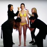 Hair, Leg, Fashion, Youth, Animation, Thigh, Fashion model, Flash photography, Abdomen, Stomach,