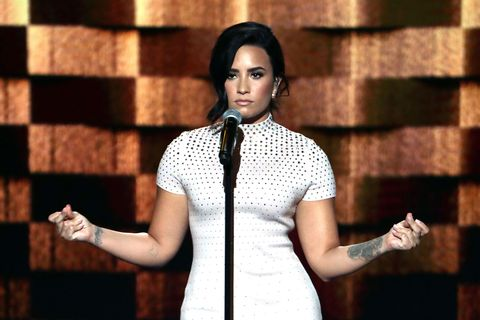 Watch Demi Lovato's Empowering DNC Speech About Living With Mental Illness
