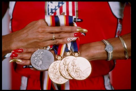 "<p>Six Olympic medals, an <a href=""https://s-media-cache-ak0.pinimg.com/236x/f5/33/bf/f533bfd0c4924ecdd226f01345616857.jpg"" target=""_blank"">honorary postage stamp</a>, a professional basketball career (?!) <em>and </em>those tips? Bow. Down.</p>"