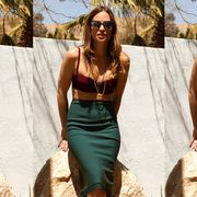 Eyewear, Glasses, Vision care, Sunglasses, Brown, Green, Fashion accessory, Waist, Style, Summer,