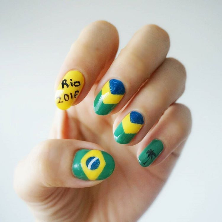 "<p>Another literal nail celebrating Rio. </p><p><em>Design by <a href=""https://www.instagram.com/p/BEOL214PG3o/"" target=""_blank"">@csmansoo2075</a></em></p>"