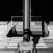 Monochrome, Stairs, Black-and-white, Monochrome photography, Fedora,