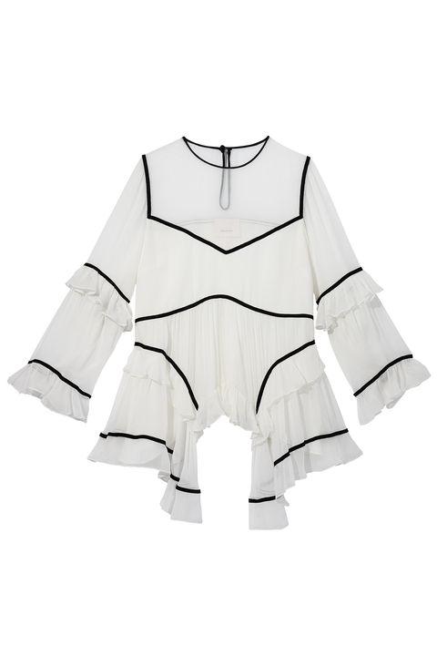 """<p>Silk blouse, CINQ À SEPT, $395, collection at <a href=""""http://www.saksfifthavenue.com/"""">saksfifthavenue.com</a></p>"""