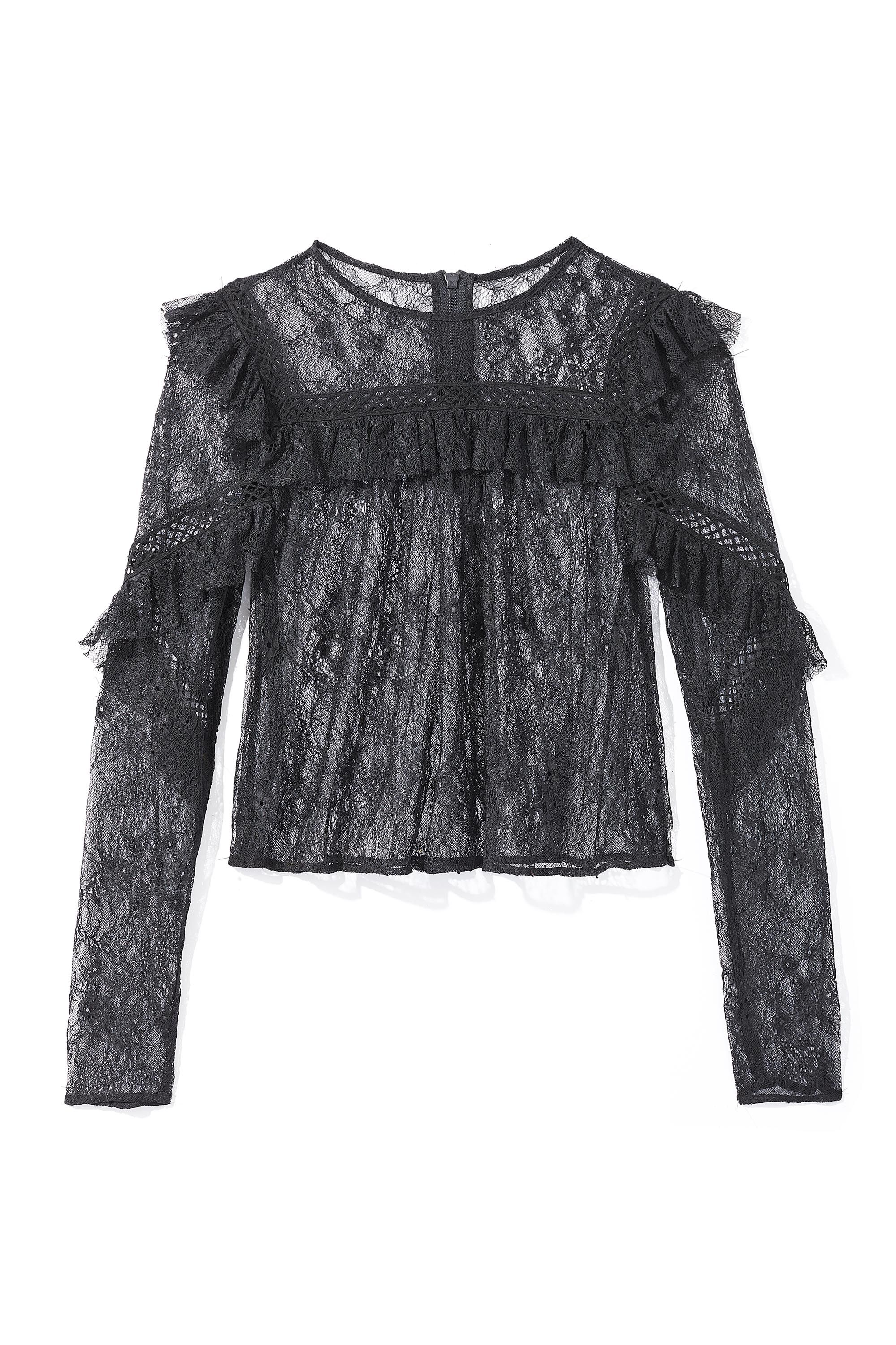 <p>Lace top, TOPSHOP, $68, at Topshop, NYC<em></em></p>