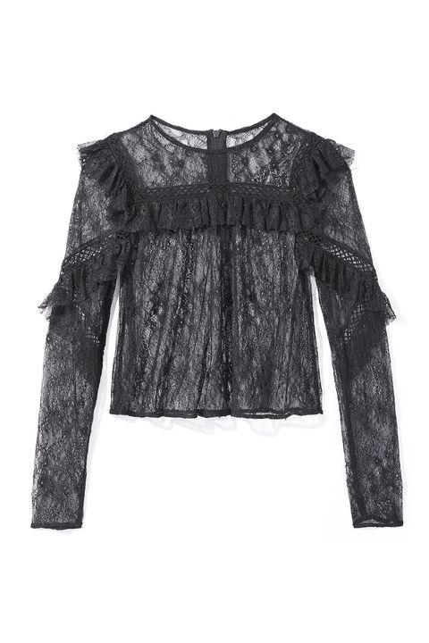<p>Lace top, TOPSHOP, $68, at Topshop, NYC<em></em></p>
