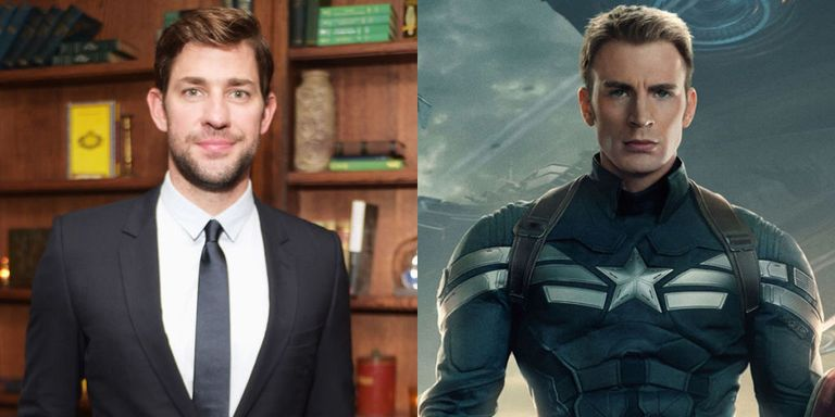 Image result for JOHN KRASINSKI AS CAPTAIN AMERICA