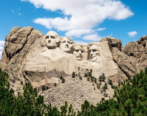 <p> Head to Keystone—the home of Mount Rushmore—and you can say hi to George, Abe, Teddy, and Thomas while taking in some pretty mind-blowing views. In fact, this year marks the 75<sup>th</sup> anniversary of completion! Travel 15 miles to Custer State Park, where you can peruse an art festival (September 29 – October 1) or even watch the annual Buffalo Roundup (September 30)(sure, why not), where cowboys and cowgirls round up and drive the herd of approximately 1,300 buffalo. No reservations are required, but definitely plan in advance—the event draws 14,000 visitors each year. Lastly, be sure to hit up the Wind Cave National Park, where you can get an intimate 4-hour tour and go spelunking through the dark tunnels and caves.</p>