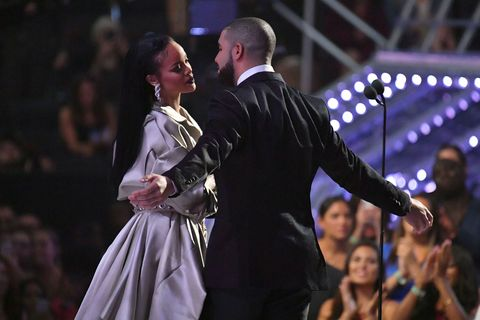Drake Can't Stop Kissing Rihanna in These Behind the Scenes VMAs Snaps
