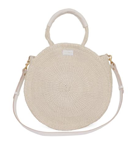 "<p>Clare V Alice Bag, $199; <a href=""https://www.clarev.com/collections/all/products/creme-woven-alice"">clarev.com</a></p>"