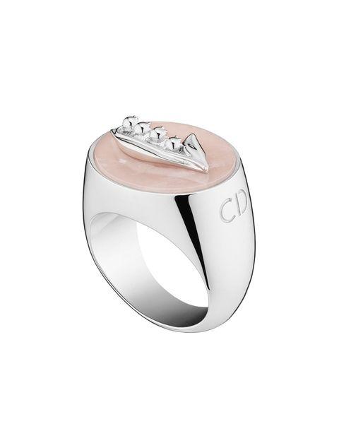 "<p>Dior Signet Ring, $440;<a href=""http://www.dior.com/home/en_us"">dior.com</a> for store locations</p>"