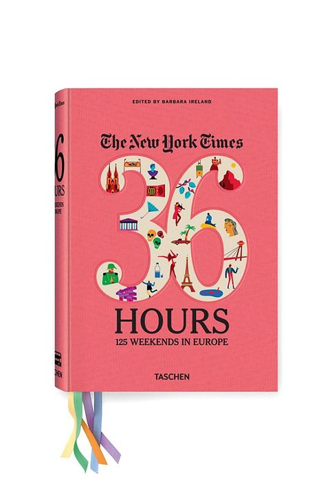 """<p>If you're considering a book purely by its cover, you wouldn't be too remiss to zero in on this one.&nbsp;Here, the second edition&nbsp;of the New York Time's&nbsp;acclaimed travel series """"36 Hours"""" transports you to some of&nbsp;Europe's best sights. BRB, checking airline prices.&nbsp;</p><p><strong data-redactor-tag=""""strong"""" data-verified=""""redactor""""><em data-redactor-tag=""""em"""" data-verified=""""redactor"""">&nbsp;New York Times 36 Hours. Europe</em> (Second Edition), $40;<a href=""""https://www.taschen.com/pages/en/catalogue/lifestyle/all/04651/facts.nyt_36_hours_europe_2nd_edition.htm"""" target=""""_blank"""">taschen.com</a>.&nbsp;</strong></p>"""