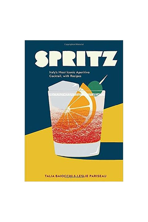 """<p>You'll want to own this new eye-catching cocktail book for multiple reasons: the narrative-driven book traces the origins of&nbsp;the spritz cocktail, it contains several mouth-watering cocktail recipes, and&nbsp;well, it looks so pretty on your living room table, no?&nbsp;</p><p><strong data-redactor-tag=""""strong"""" data-verified=""""redactor""""><em data-redactor-tag=""""em"""" data-verified=""""redactor"""">Spritz: Italy's Most Iconic Aperitivo Cocktail, with Recipes</em>, $13; <a href=""""https://www.amazon.com/Spritz-Italys-Aperitivo-Cocktail-Recipes/dp/1607748851"""" target=""""_blank"""">amazon.com</a>.&nbsp;</strong></p>"""
