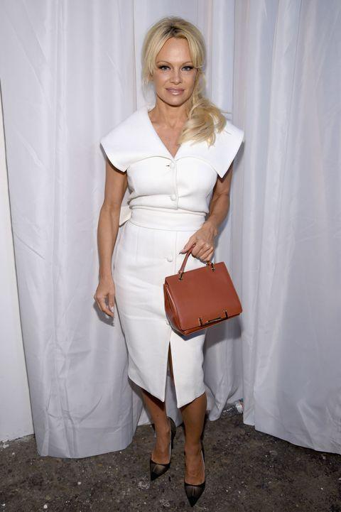 Pamela Anderson at Christian Siriano