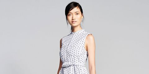 Hairstyle, Sleeve, Shoulder, Photograph, Joint, Dress, One-piece garment, Style, Pattern, Collar,