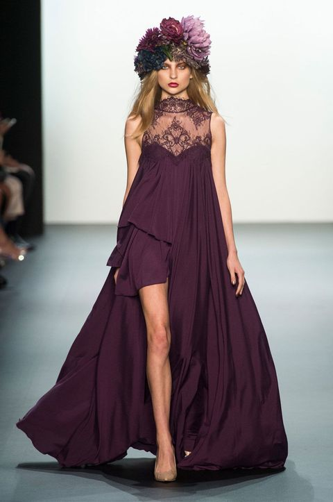 Shoulder, Joint, Dress, Style, Formal wear, Fashion model, One-piece garment, Costume accessory, Purple, Magenta,