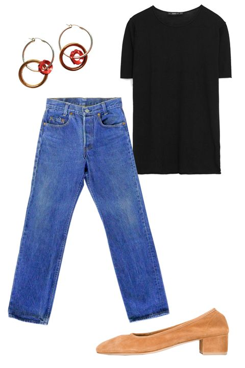 "<p>My fashion week style&nbsp;doesn't stray too much from the looks I usually wear. I like to keep things simple and comfortable, and usually add a bit of flare with accessories. This fashion week, I am really excited to wear&nbsp;my earrings from Double Disco, and rotate&nbsp;between my Maryam Nassir Zadeh and&nbsp;<a href=""http://www.mansurgavriel.com/products/suede-40mm-single-strap-sandal-flamma"" target=""_blank"">Mansur Gavriel</a>&nbsp;shoes. I'll mix them in with my usual uniform of vintage jeans or&nbsp;<a href=""https://urldefense.proofpoint.com/v2/url?u=http-3A__us.aritzia.com_product_luchaire-2Dpant_60358.html-3Fdwvar-5F60358-5Fcolor-3D4322&amp;d=DQMFaQ&amp;c=B73tqXN8Ec0ocRmZHMCntw&amp;r=MD9PON_3e_YfvBNZlbD4wy2VpCsZUH7wLDWAZkHMYao&amp;m=5rE6Ix0mt_-SIADqiaKwENKZbn7_ISdIiUbdbndJEIY&amp;s=JK-H07NS-BDhimsfORKJjRRD2MPRPeU1SwerKewOEpw&amp;e="" target=""_blank"">black pants</a>&nbsp;and simple knit tees or tanks.<em data-redactor-tag=""em"" data-verified=""redactor"">— Christina Holevas, Associate Accessories Editor</em></p><p><em data-redactor-tag=""em"" data-verified=""redactor"">Zara Short Sleeve Sweater, $26;&nbsp;<a href=""https://urldefense.proofpoint.com/v2/url?u=http-3A__www.zara.com_us_en_woman_knitwear_short-2Dsleeve-2Dsweater-2Dc269190p3697007.html&amp;d=DQMFaQ&amp;c=B73tqXN8Ec0ocRmZHMCntw&amp;r=MD9PON_3e_YfvBNZlbD4wy2VpCsZUH7wLDWAZkHMYao&amp;m=5rE6Ix0mt_-SIADqiaKwENKZbn7_ISdIiUbdbndJEIY&amp;s=f6GvP02E_xPH7S1dIZmZOc0i5-P0y44zpVOq-c5oTPQ&amp;e="" target=""_blank"">zara.com</a></em></p><p><em data-redactor-tag=""em"" data-verified=""redactor""><em data-redactor-tag=""em"" data-verified=""redactor"">Levi's 701s, $165;&nbsp;<a href=""https://urldefense.proofpoint.com/v2/url?u=http-3A__www.collectiononline.us_shop_levis-2D701s-2Dsize-2D26-2D27-3Fcategory-3DJEANS&amp;d=DQMFaQ&amp;c=B73tqXN8Ec0ocRmZHMCntw&amp;r=MD9PON_3e_YfvBNZlbD4wy2VpCsZUH7wLDWAZkHMYao&amp;m=5rE6Ix0mt_-SIADqiaKwENKZbn7_ISdIiUbdbndJEIY&amp;s=xWmF2XspFNNLWRcdbcC3cNJ63sOE_8wTlxa-tQVujng&amp;e="" target=""_blank"">collecti"