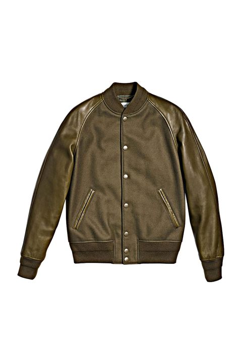 """<p>Those that coveted a letterman jacket in high school can embrace the same look in adulthood. Drape t<span class=""""redactor-invisible-space"""" style=""""line-height: 1.6em; background-color: initial;"""" rel=""""line-height: 1.6em; background-color: initial;"""" data-verified=""""redactor"""" data-redactor-tag=""""span"""" data-redactor-style=""""line-height: 1.6em; background-color: initial;"""">his luxe take on an all-American silhouette<span class=""""redactor-invisible-space"""" data-verified=""""redactor"""" data-redactor-tag=""""span"""" data-redactor-class=""""redactor-invisible-space""""> over your shoulders to ensure you l</span></span>ook like a jock without ever breaking a sweat. </p><p><em data-redactor-tag=""""em"""">Coach 1941 Civilian Varsity Jacket, $795, <a rel=""""noskim"""" href=""""http://www.coach.com/coach-mens-coats-civilian-varsity-jacket/86698.html?CID=D_B_ELL_11743"""" target=""""_blank"""">coach.com</a></em><br></p>"""