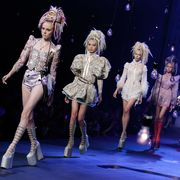 Event, Entertainment, Performing arts, Stage, Dancer, Performance, Fashion, Thigh, Choreography, Costume design,