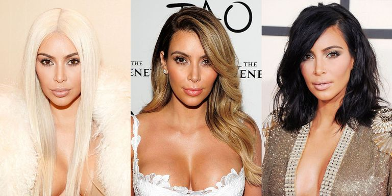 50 best kim kardashian hair looks kim kardashians evolving hairstyles getty images solutioingenieria Image collections