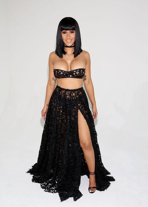 Clothing, Shoulder, Waist, Strapless dress, Dress, Fashion model, Costume accessory, Fashion, Black hair, Abdomen,