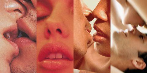 Lip, Mouth, Cheek, Skin, Chin, Facial expression, Interaction, Organ, Eyelash, Lipstick,