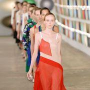 Street fashion, One-piece garment, Waist, Day dress, Peach, Fashion design, Abdomen,