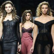 Face, Head, Hairstyle, Fashion model, Dress, Waist, Style, Beauty, Fashion, Model,