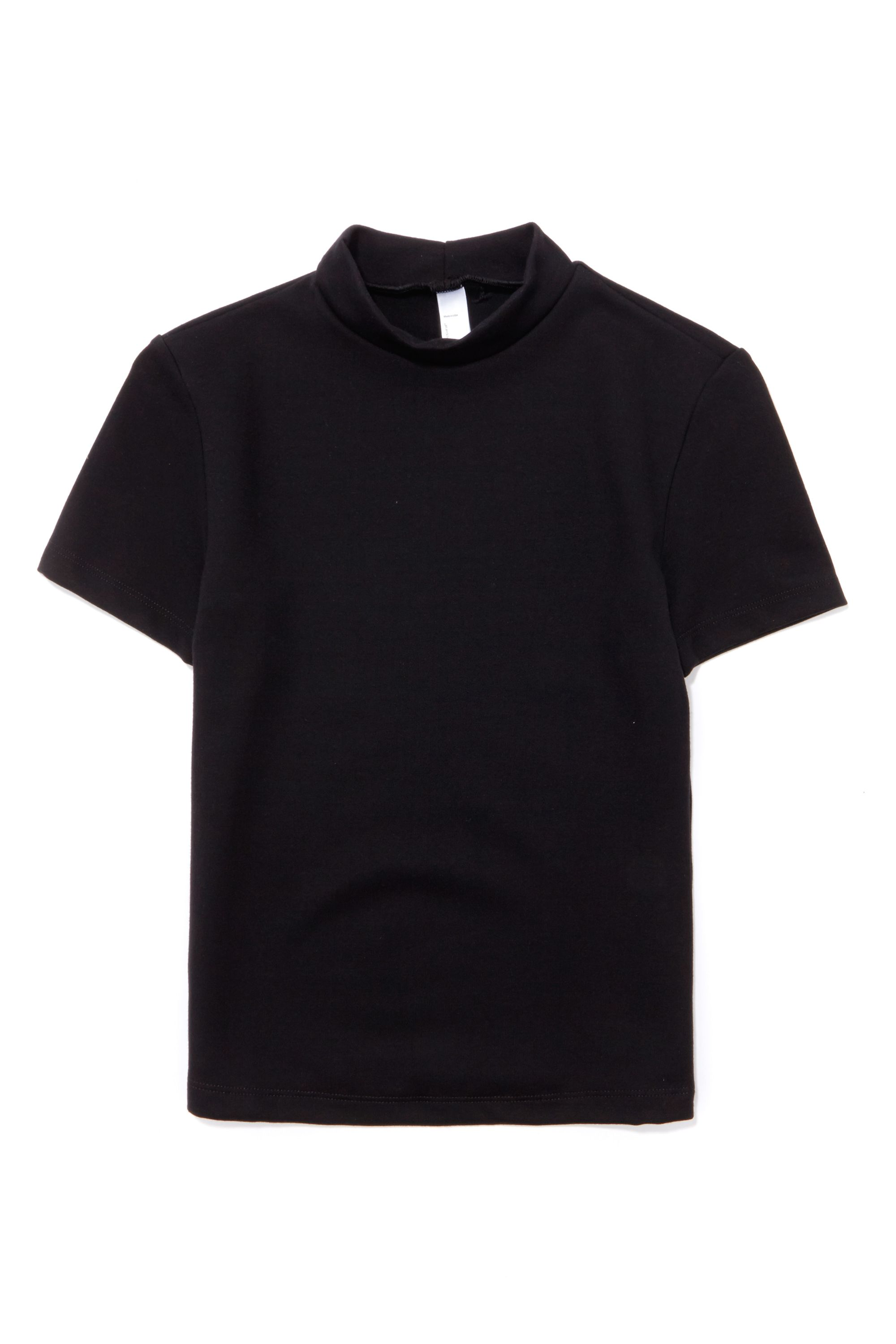 "<p>American Apparel Ponte Mock Neck Short Sleeve Top, $22; <a href=""https://urldefense.proofpoint.com/v2/url?u=http-3A__store.americanapparel.net_en_ponte-2Dmock-2Dneck-2Dshort-2Dsleeve-2Dtop-5Frsapo305-3Fc-3DBlack&d=DQMFaQ&c=B73tqXN8Ec0ocRmZHMCntw&r=MD9PON_3e_YfvBNZlbD4wy2VpCsZUH7wLDWAZkHMYao&m=9cloJ_LzZKN0ExiP98HDkvhBTWq_YEqBMPu4pJNdMrI&s=tOyvfUHvKc6KkzrQx8_1QJwezRN8fcEsHKS-GhknDGk&e="" target=""_blank"">americanapparel.net</a></p>"