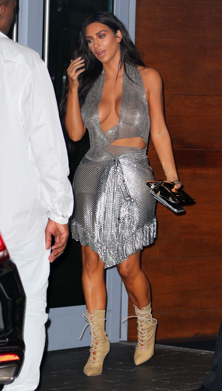Kim Kardashian in Hoo and Biker Shorts Kim Kardashian Fashion s