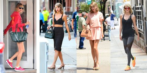 afae2bf2810e9 Taylor Swift s Gym Fashion Evolution - Taylor Swift s Workout Style ...