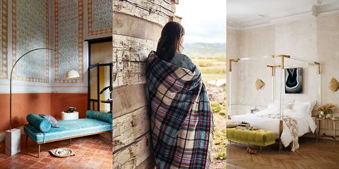 Textile, Room, Plaid, Tartan, Wall, Interior design, Pattern, Linens, Interior design, Bed,