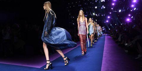 Clothing, Footwear, Trousers, Purple, Dress, Style, Violet, Magenta, Fashion model, Fashion accessory,