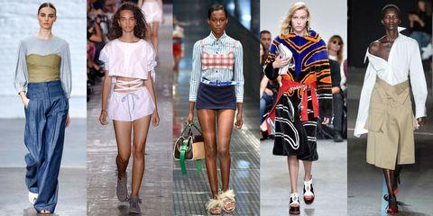 Clothing, Footwear, Leg, Outerwear, Denim, Style, Waist, Street fashion, Fashion show, Fashion,