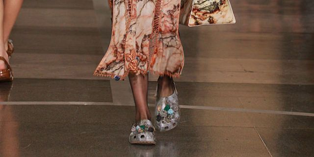 a45105d35 Crocs Covered in Crystals at London Fashion Week - Christopher Kane  Collaborates With Shoe Brand