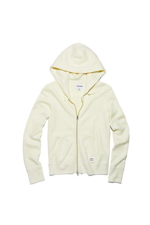 Sleeve, Collar, Textile, Jacket, Beige, Sweatshirt, Hoodie, Hood, Zipper, Natural material,