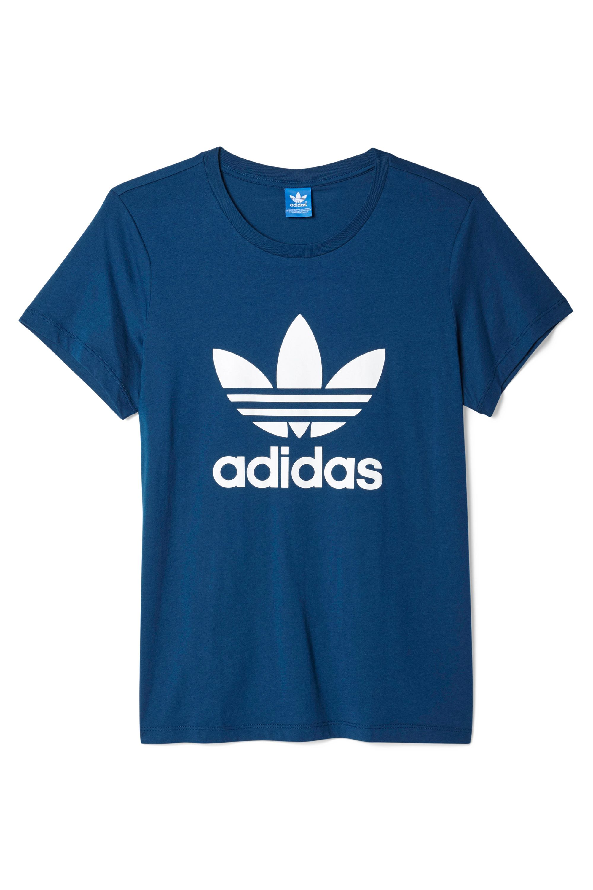 "<p>Cotton T-shirt, ADIDAS ORIGINALS, $30, visit <a href=""http://www.adidas.com/us/search?q=trefoil+tee"" target=""_blank"">adidas.com</a></p>"