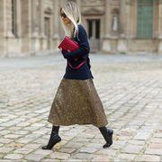 Clothing, Human leg, Textile, Outerwear, Street, Style, Street fashion, Bag, Pattern, Waist,