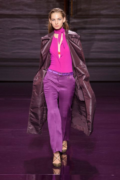 Textile, Magenta, Pink, Style, Purple, Fashion show, Fashion model, Runway, Fashion, Jewellery,