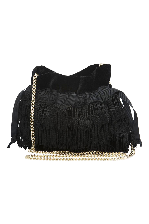"<p>Bionda Castana Estella Vintage Fringe Micro-Bag, $65; <a href=""http://biondacastana.com/collections/handbags/products/estella_vintage_velvet_fringe_micro_bag"">biondacastana.com</a></p>"