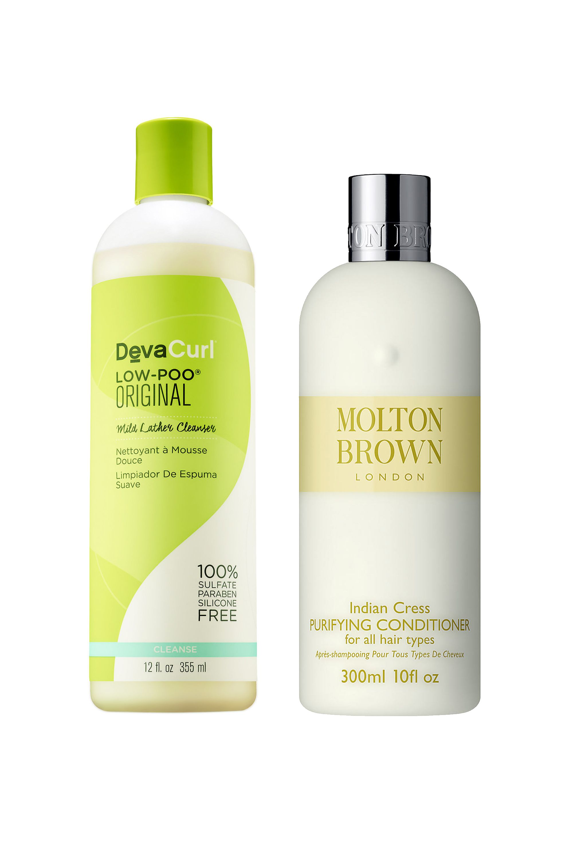 "<p>I tend to use a cocktail of products on my hair depending upon how it's acting and this has become my favorite combo! I took me a minute to get used to the low lather part of DevaCurl's Low-Poo, but it doesn't dry out my curls like most shampoos. The Molton Brown conditioner smells so good. Despite being lightweight, it really gets thru my toughest of tangles, which means a lot. I'm not sure of the magic ingredient but my hair always dries better when I use it.- Mariel Tyler, ELLE.com Photo Editor </p><p><em data-redactor-tag=""em"" data-verified=""redactor"">DevaCurl Low-Poo, $22; <a href=""http://www.sephora.com/low-poo-P378322?"" target=""_blank"">sephora.com</a></em></p><p><em data-redactor-tag=""em"" data-verified=""redactor""><a href=""http://www.devacurl.com/low-poo-curl.html?gclid=CPDVpLjxss8CFQERaQodydgJGw"" target=""_blank""></a></em><a href=""http://www.devacurl.com/low-poo-curl.html?gclid=CPDVpLjxss8CFQERaQodydgJGw"" target=""_blank""><em data-redactor-tag=""em"" data-verified=""redactor"">Molton Brown Indian Cress Purifying Conditioner, $30; </em>[link href=""http://shop.nordstrom.com/s/molton-brown-london-indian-cress-purifying-conditioner/3585127?cm_mmc=google-_-productads-_-Unisex%3AHairCare%3AConditioners-_-956053&rkg_id=h-744ff9d368aa0ca50c148b692bd68743_t-1475094067&adpos=1o2&creative=39388735913&device=c&network=g&gclid=CIShk8_xss8CFYRGXgodxJkCKw"" target=""_blank"" link_updater_label=""external""]<em data-redactor-tag=""em"" data-verified=""redactor"">nordstrom.com</em></a></p>"