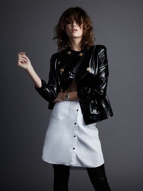 Sleeve, Textile, Jacket, Joint, Outerwear, Collar, Style, Fashion, Jewellery, Fashion model,