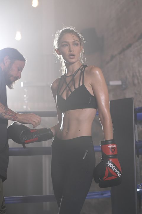 5ec807a239 Gigi Hadid Is the New Face of Reebok s  PerfectNever Campaign - Gigi ...