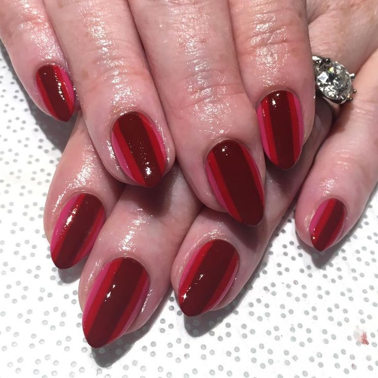 19 easy red nail designs cute nail art ideas for a red manicure lined up prinsesfo Image collections