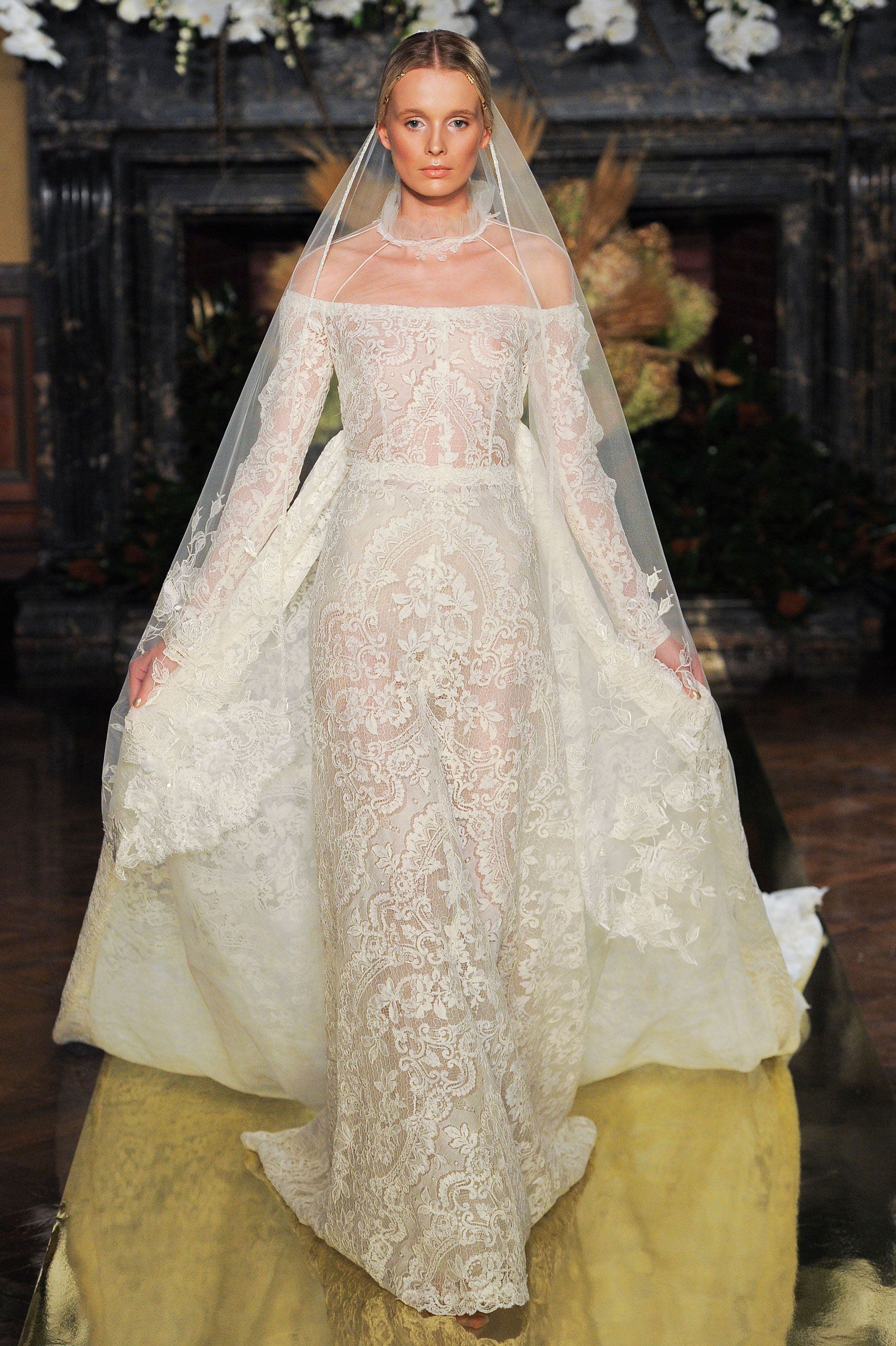 An off the shoulder wedding dress is the next big thing ombrellifo Gallery