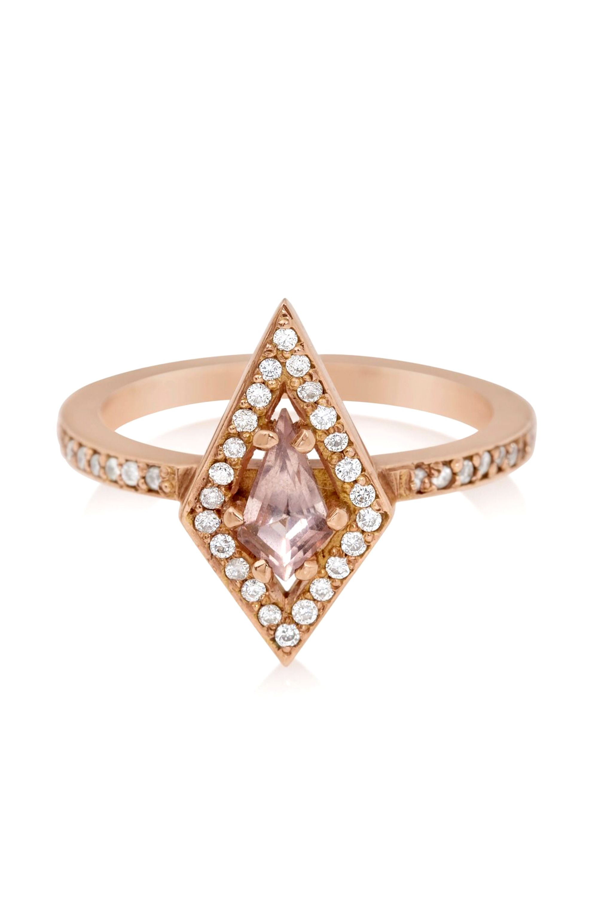 "<p>Meadowlark Kite Engagement Ring, $3,030; <a href=""http://www.stoneandstrand.com/jewelry/rings/meadowlark-9k-rose-gold-kite-engagement-ring"" target=""_blank"">stoneandstrand.com</a></p>"