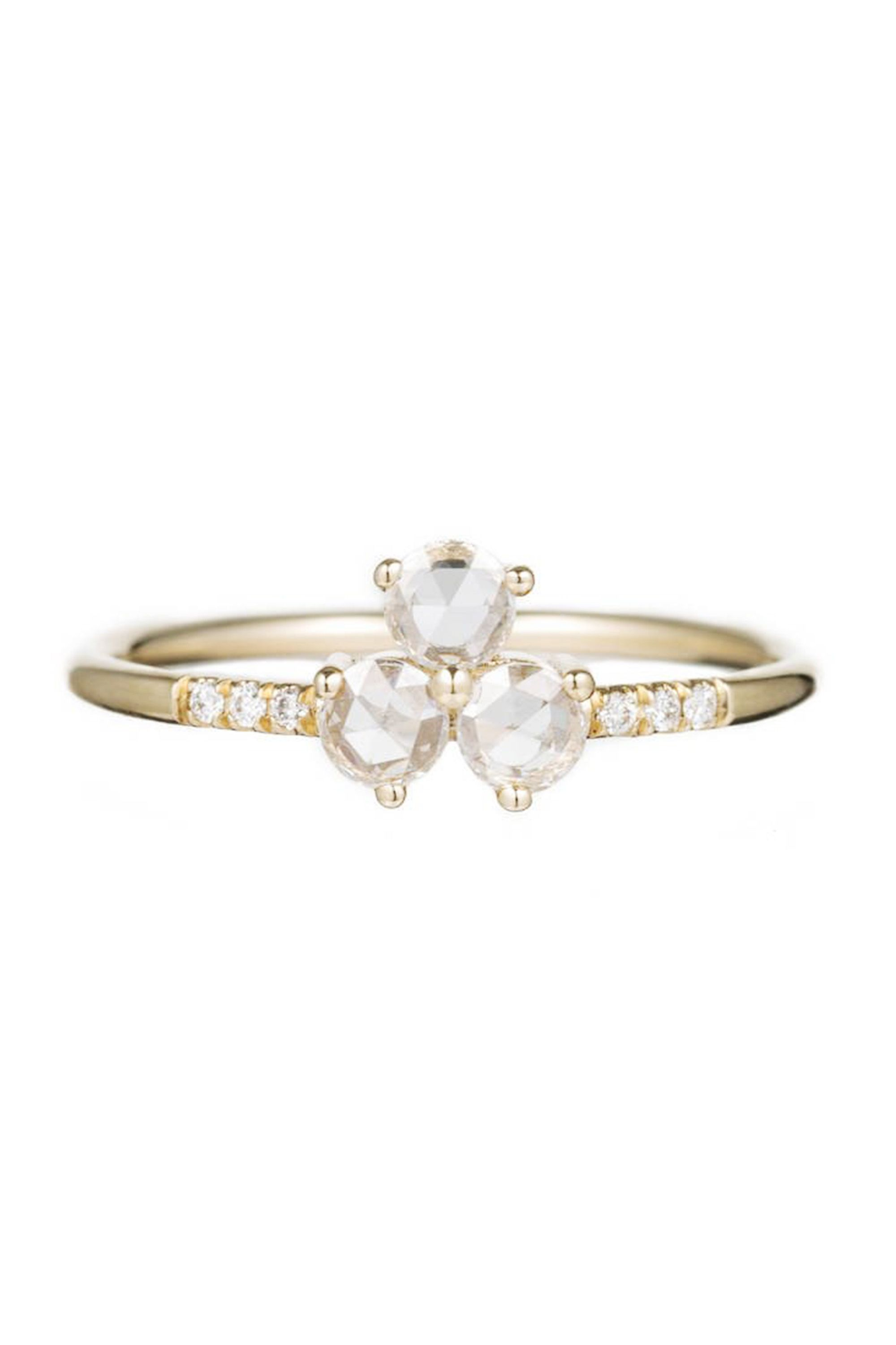 41 unique engagement rings beautiful non diamond and unusual engagement rings - Nontraditional Wedding Rings