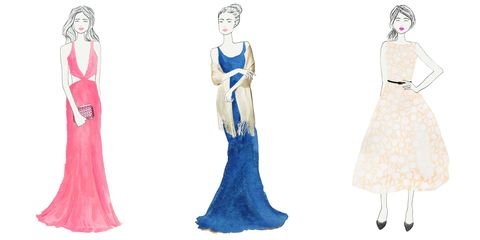 Hairstyle, Shoulder, Standing, Joint, Formal wear, Style, Dress, Fashion illustration, Costume design, Fashion,
